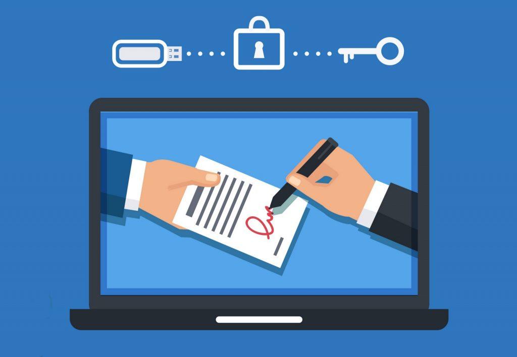 線上簽訂民事契約