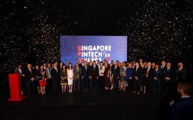 2019年新加坡亞洲金融科技領袖獎頒獎盛況(圖片來源:新加坡金融科技協會)